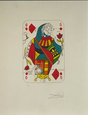 Playing Cards - Queen Of Diamonds